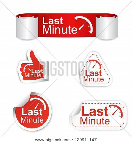 Set Of Stickers - Last Minute