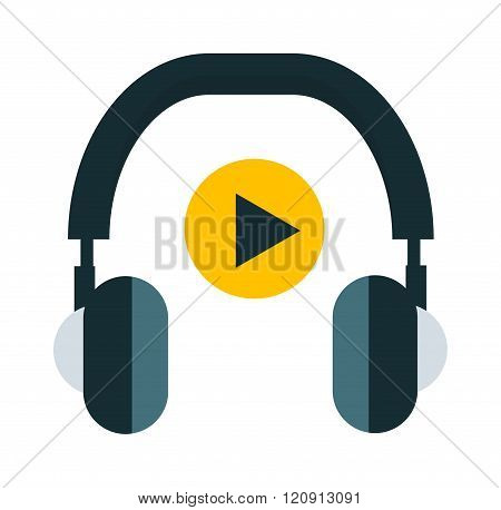 Radio headphones vector illustration
