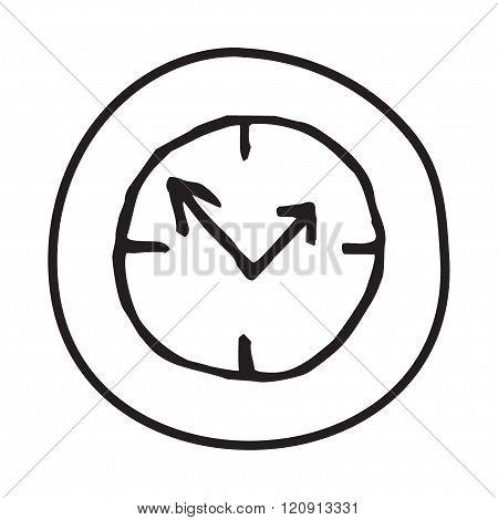 Doodle Clock icon.