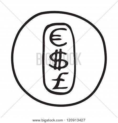 Doodle Currencies icon.