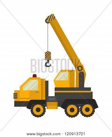 Crane truck vector illustration