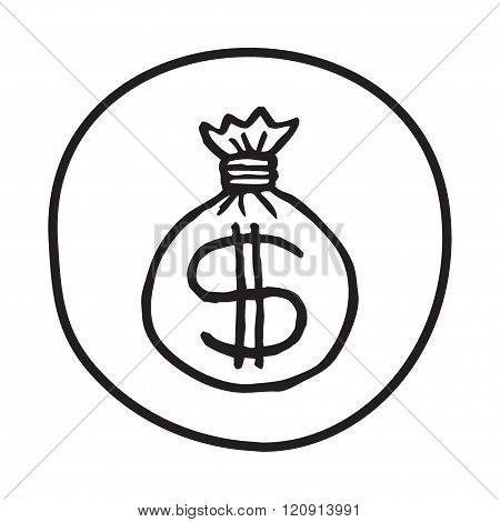 Doodle Money Bag icon.