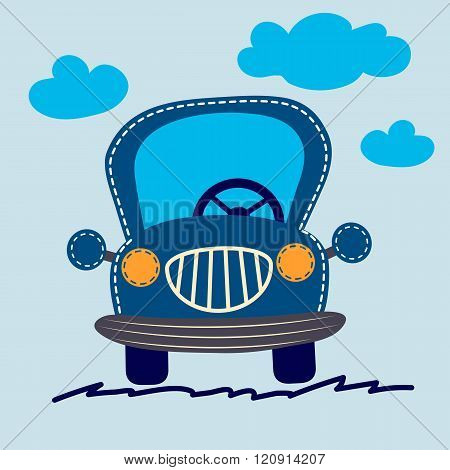 Cute  Car Vector Illustration