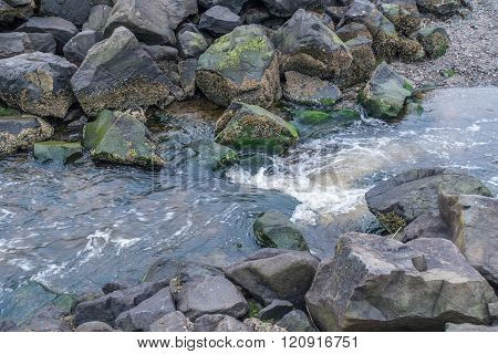 Rocks And Stream