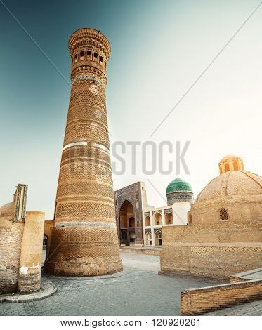 Complex of ancient buildings in the city of Bukhara, Uzbekistan