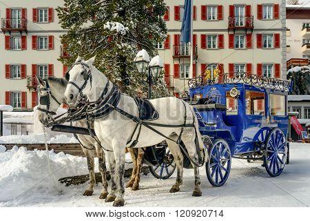 Zermatt coach and horses
