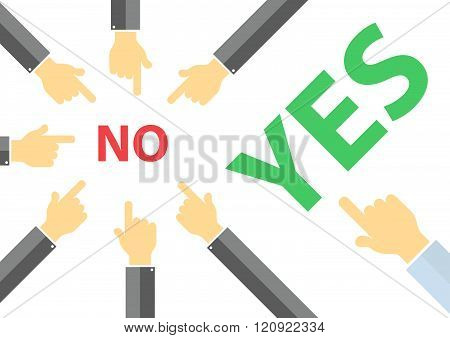 yes or no peer pressure concept - think different concept