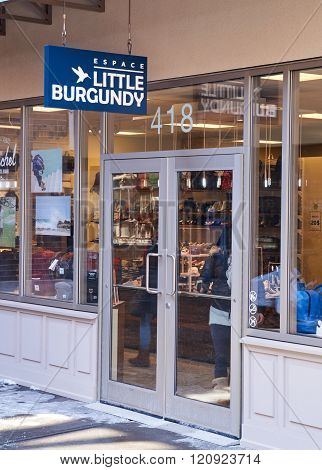 MONTREAL CANADA - MARCH 6 2016 - Little Burgundy outlet in Premium Outlets Montreal. The Premium Outlets is the second Premium Outlet Center in Canada located in Mirabel Quebec.