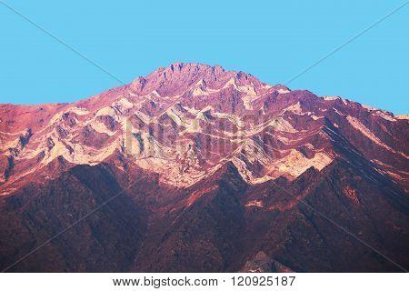 Purple Mountain Majesty with Peak Erosion