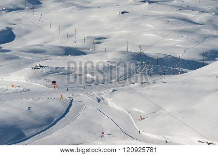 Ski runs on Gornergrat, Zermatt