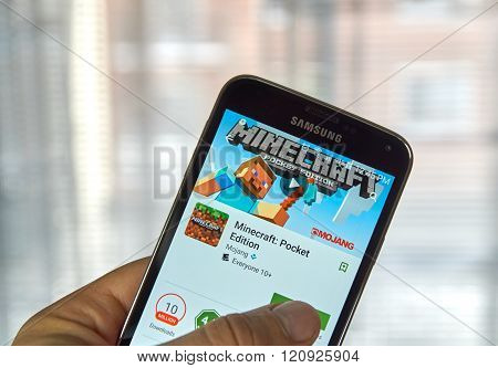 Minecraft Mobile Game.