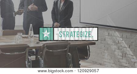 Strategize Tactics Vision Solution Development Concept