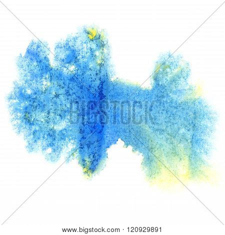 paint blue splash color ink watercolor isolated stroke splatter watercolour aquarel brush