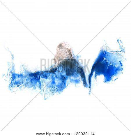 paint splash color ink black blue watercolor isolated stroke splatter watercolour aquarel brush