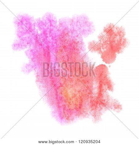 paint splash color pink ink watercolor isolated stroke splatter watercolour aquarel brush