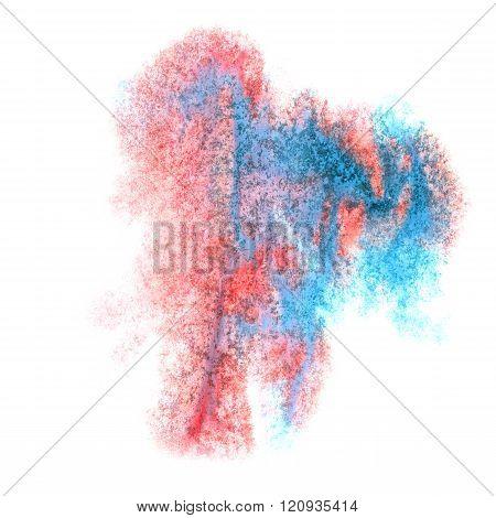 paint splash color red blue ink watercolor isolated stroke splatter watercolour aquarel brush