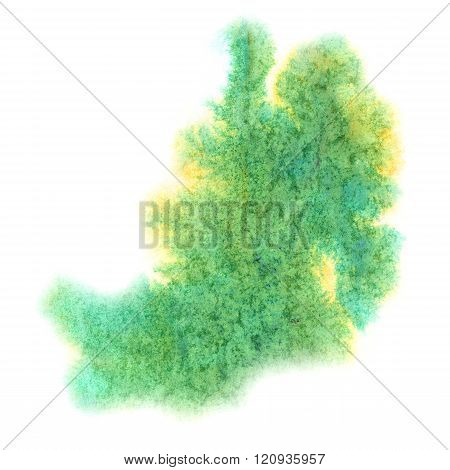 paint splash green color ink watercolor isolated stroke splatter watercolour aquarel brush