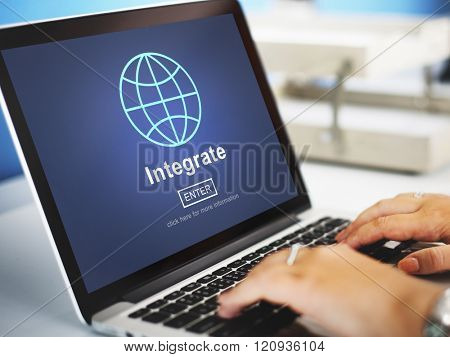 Integrate Combine Merge Online Web Concept