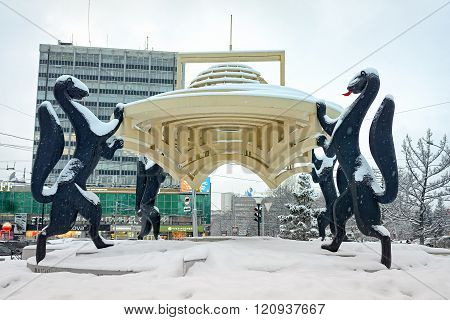 Novosibirsk, Siberia, Russia - March 01, 2016: Composition