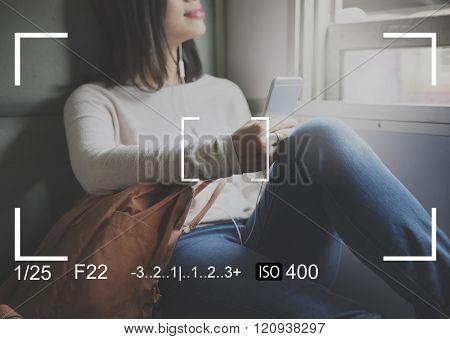 Camera Shot Focus Capture Interface Composition Concept