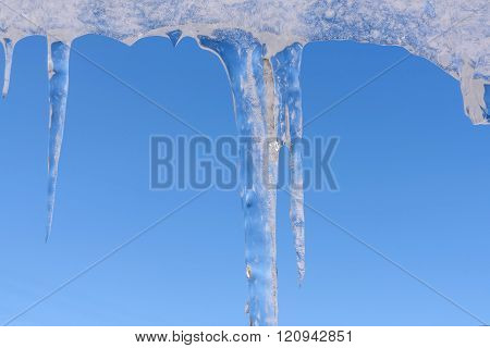 Icicle Winter Ice Sky Hang
