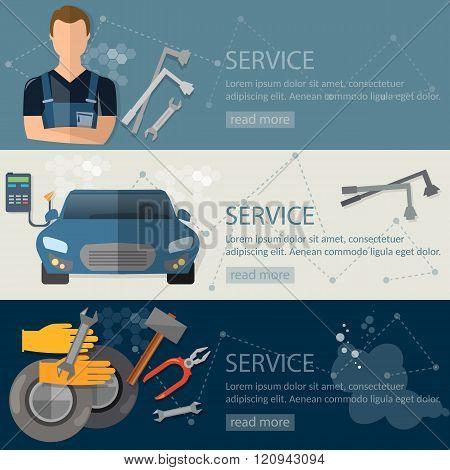 Auto Service Banner Auto Repair