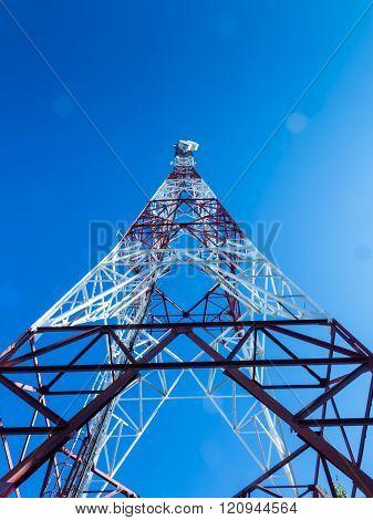 Communication Tower Over A Blue Sky Iii