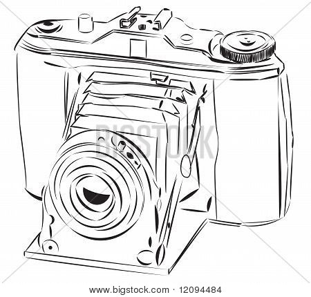 Vector sketch of the old camera