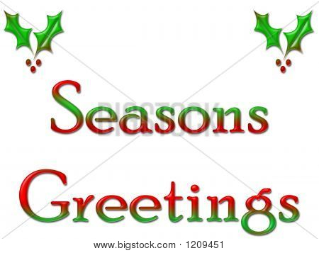 Greeting Card Seasons Greetings