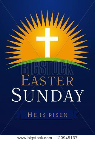 Easter Sunday calvary sun card