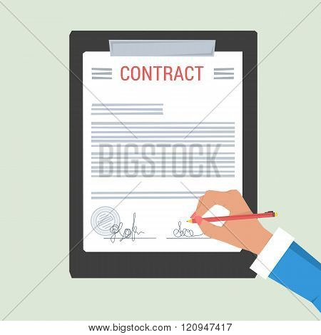Concept Hand Signs Contract