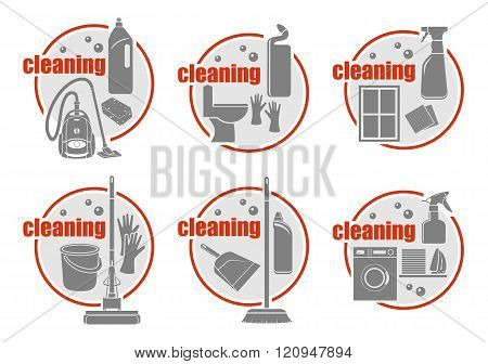 Set Of Icon Cleaning.