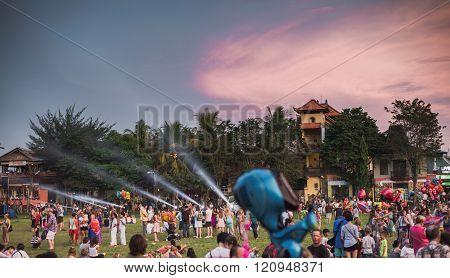 Ubud, Bali - March 8: Unidentified People During The Celebration Of Nyepi - Balinese Day Of Silence