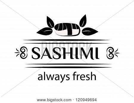 Sashimi logo vector illustration