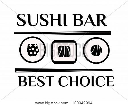 Sushi logo vector illustration