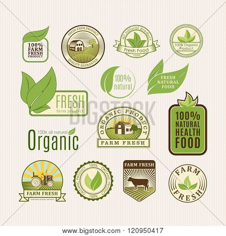 Eco badge organic food
