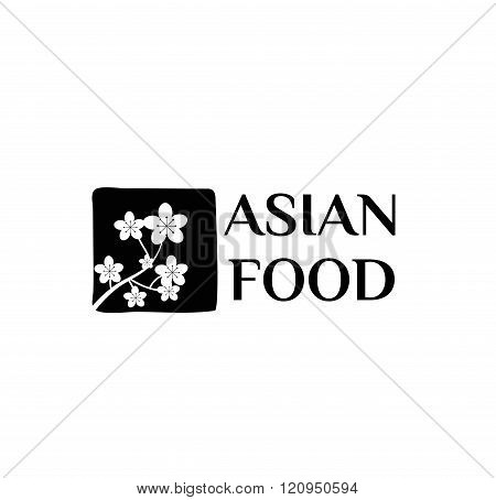 Asian food logo vector illustration