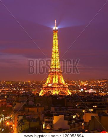 Eiffel Tower At Dusk, Paris