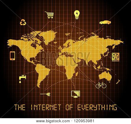 The Internet of everything - world map design