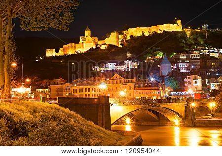 Sightseeings Of Tbilisi At Night, Georgia