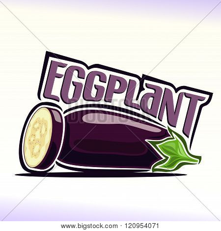 Vector illustration on the theme of eggplant