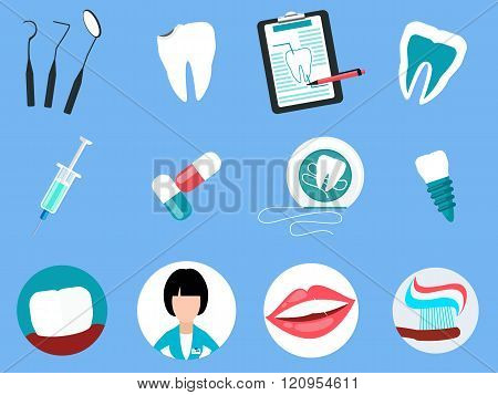 Dental Treatment Design Flat Concept