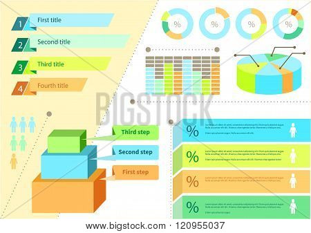 Infographic Set Flat Design Business
