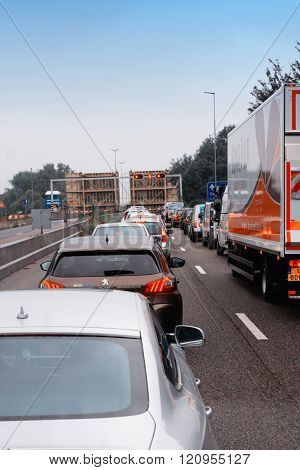 Traffic Jam In Holland
