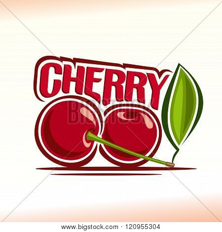 Vector illustration on the theme of cherry