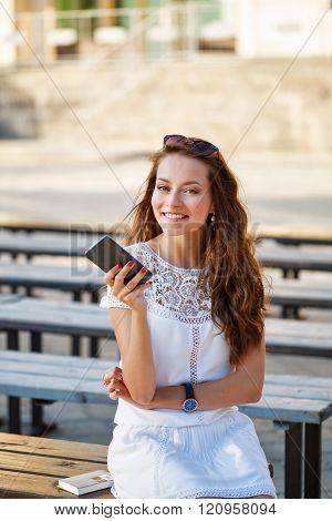 Hipster Girl Smiling.