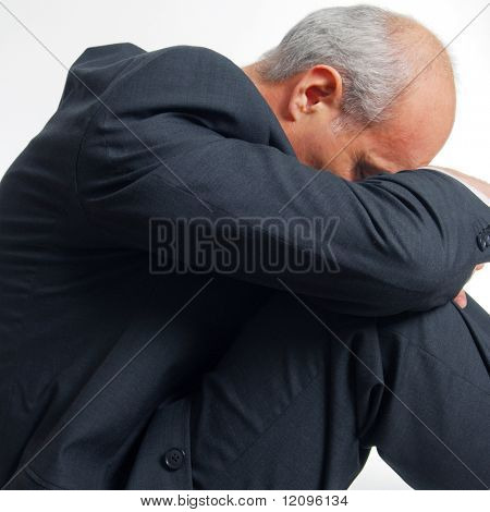 Business employee exhausted from workload