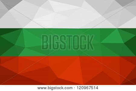 Bulgarian low poly triangulate flag
