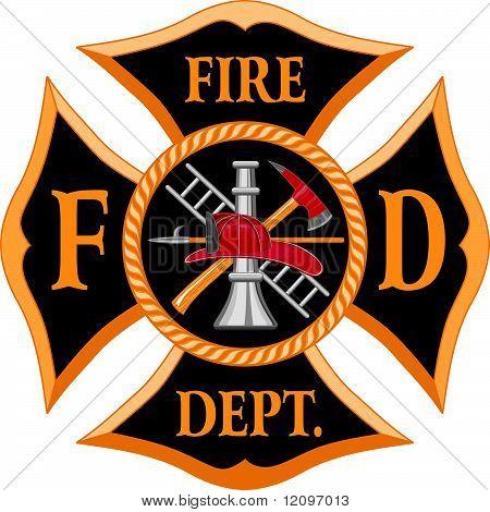 Símbolo de la Cruz de Malta de bomberos