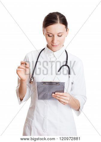 Beautiful Woman Doctor Take Note
